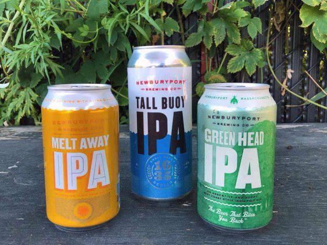 Microbrasserie canettes de bière Newburyport Brewing Company Newburyport Massachussets États-Unis Ulocal produit local achat local