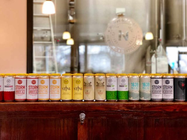 Microbrewery Beer Cans Newport Craft Brewing + Distilling Co. Newport Rhode Island United States Ulocal Local Product Local Purchase