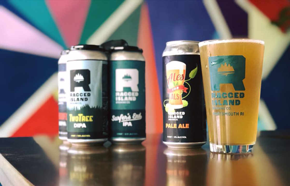 Microbrewery beer cans Ragged Island Brewing Co. Portsmouth Rhode Island United States Ulocal Local Product Local Purchase