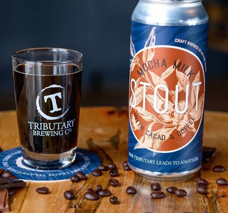 Microbrewery Glass and Beer can Tributary Brewing Company Kittery Maine United States Ulocal Local Product Local Purchase