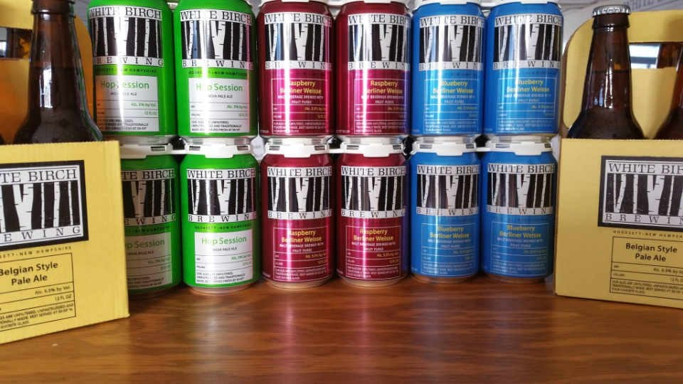 Microbrewery beer cans White Birch Brewing Nashua New Hampshire United States Ulocal Local Product Local Purchase