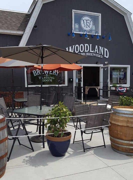Microbrasserie extérieur Woodland Farms Brewery Kittery Maine États-Unis Ulocal produit local achat local