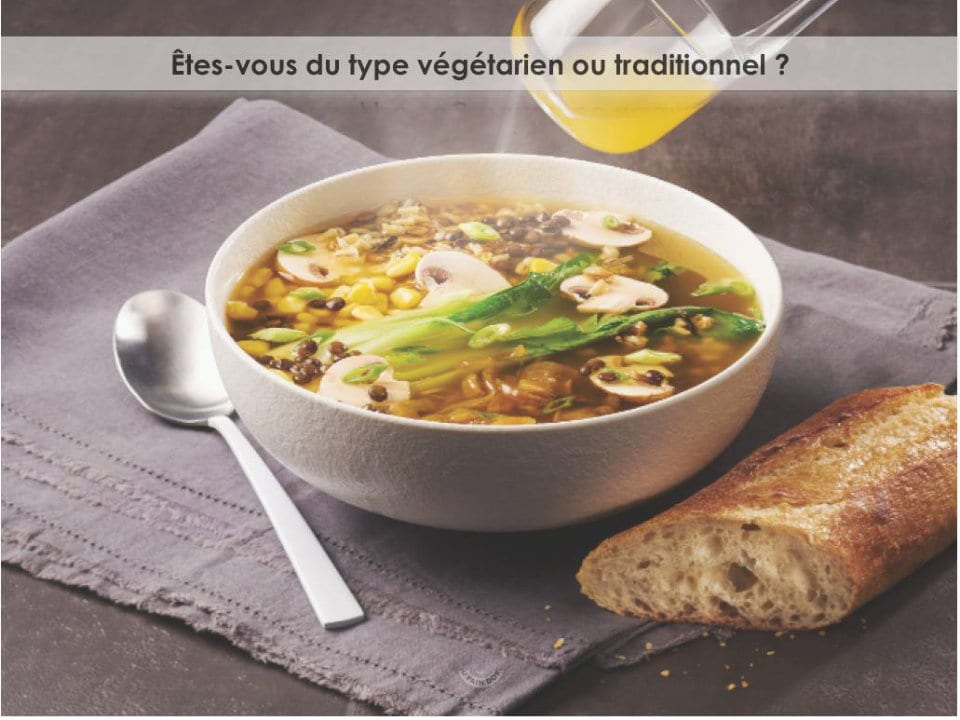 artisan bakeries vegetable soup with fresh baguette of the day au pain doré de l'avenir laval quebec canada ulocal local products local purchase local produce locavore tourist