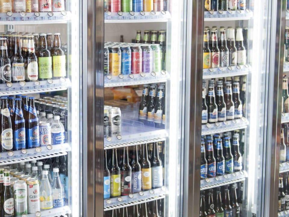 liquor local beers in refrigerators bières dépôt au vent du nord sherbrooke quebec canada ulocal local products local purchase local produce locavore tourist