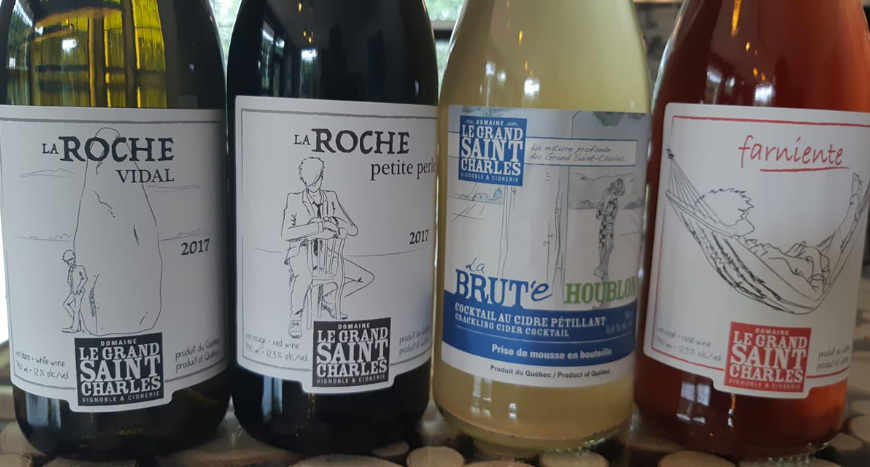 Vineyard alcohol diet Domaine Le Grand Saint-Charles Saint-Paul-d'Abbotsford Quebec Ulocal local product local purchase local product