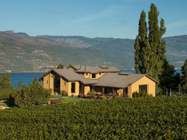 vineyard view of the property the vineyard and lake okanagan ex nihilo vineyards lake country british colombia canada ulocal local products local purchase local produce locavore tourist