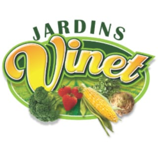 Marché de fruits et/ou légumes logo jardins vinet saint-rémi quebec canada ulocal produits locaux achat local produits du terroir locavore touriste