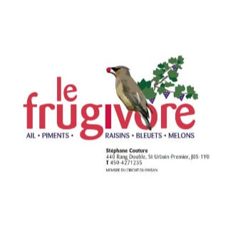 produce picking produce markets logo le frugivore saint-urbain-premier quebec canada ulocal local products local purchase local produce locavore tourist
