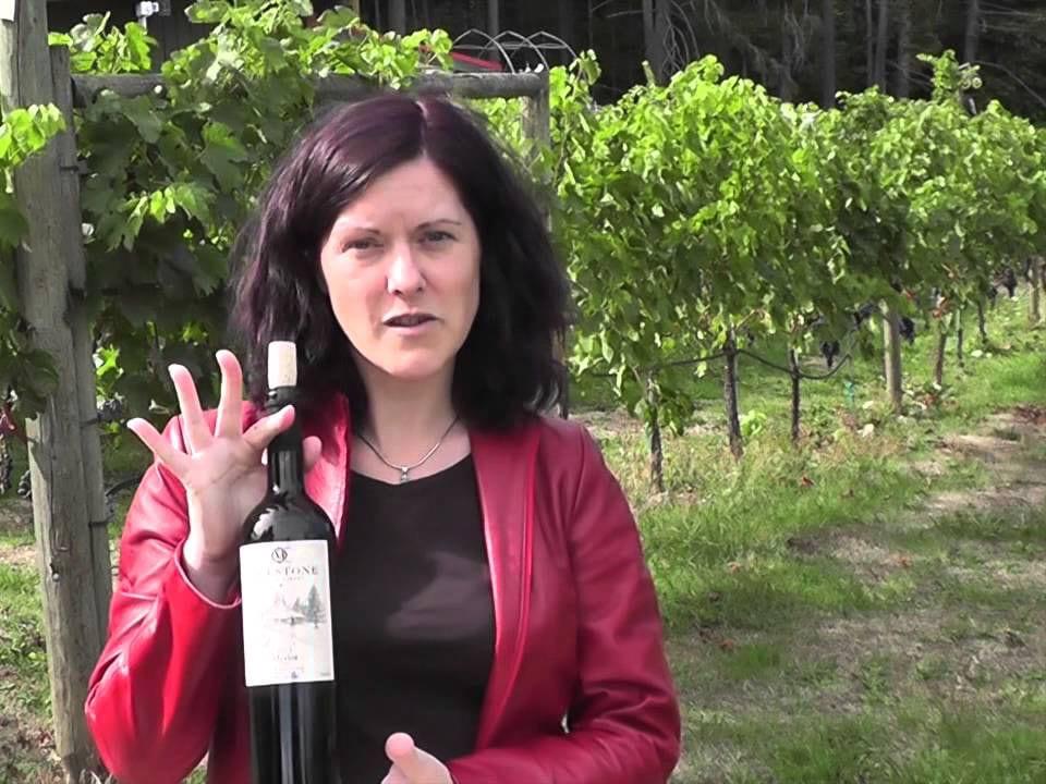 vignoble propriétaire dans le vignoble avec bouteille de vin rouge dans les mains millstone winery nanaimo colombie britannique canada ulocal produits locaux achat local produits du terroir locavore touriste