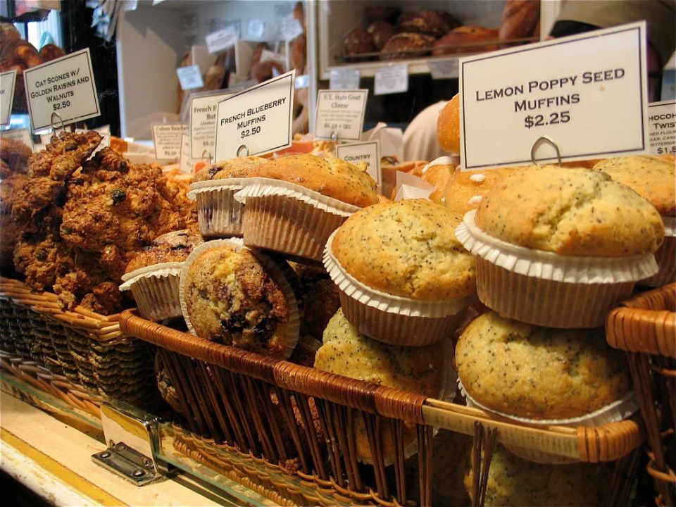 Bakery muffins Amy's Bread New York New York United States Ulocal local product local purchase