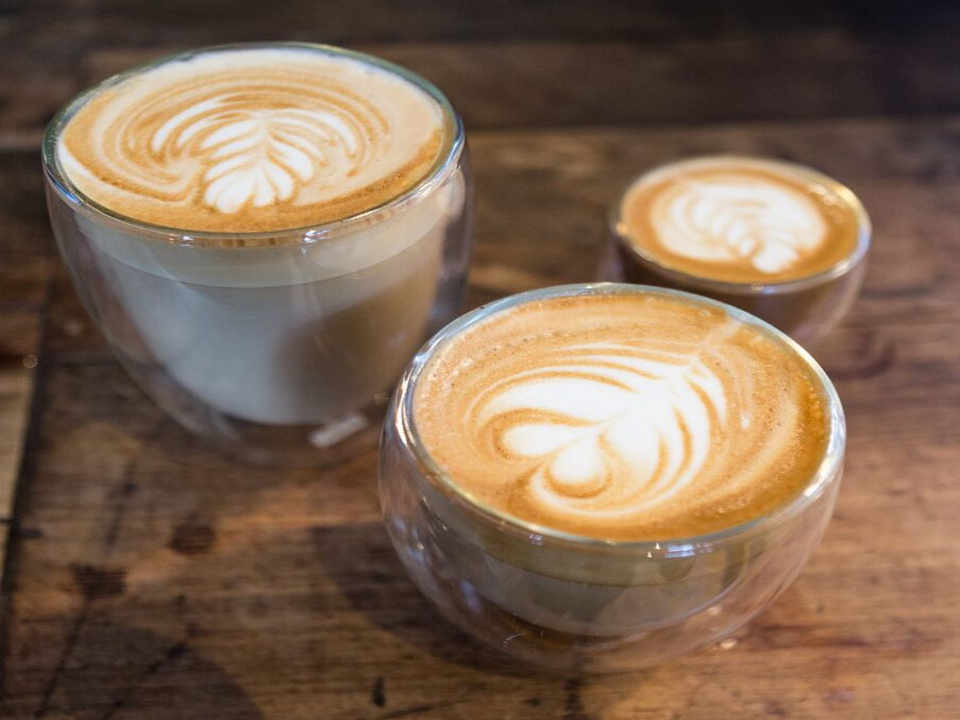 Coffee latte coffee Brooklyn Roasting Company Brooklyn New York United States Ulocal Local Product Local Purchase