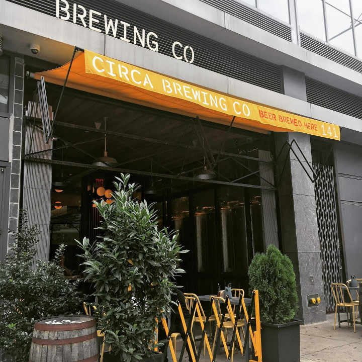 Microbrasserie brasserie terrasse Circa Brewing Co. Brooklyn New York États-Unis Ulocal produit local achat local