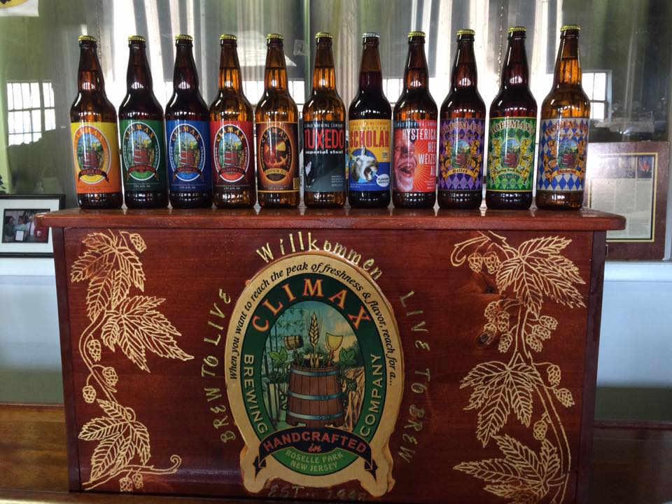 Microbrasserie bouteilles de bière Climax Brewing Company Roselle Park New Jersey États-Unis Ulocal produit local achat local