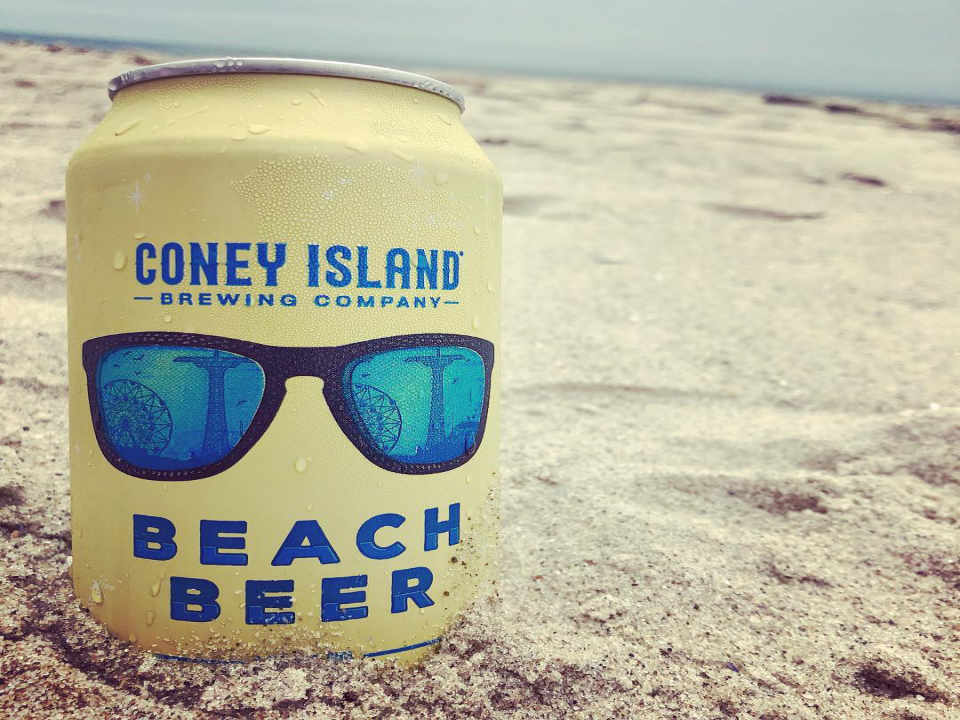 Microbrasserie canette de bière Coney Island Brewing Co. Brooklyn New York États-Unis Ulocal produit local achat local