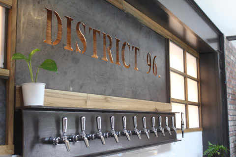 Microbrewery logo District.96 Beer Factory New City New York United States Ulocal Local Product Local Purchase