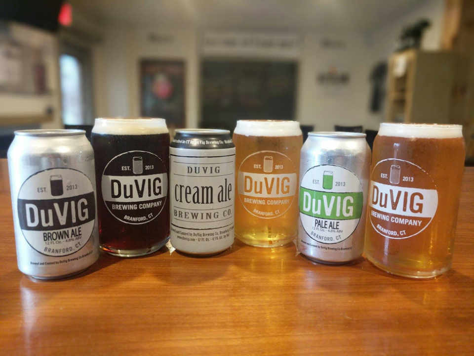 Microbrewery Beer Cans DuVig Brewing Company Branford Connecticut United States Ulocal Local Product Local Purchase