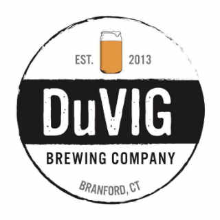 Microbrewery logo DuVig Brewing Company Branford Connecticut United States Ulocal Local Product Local Purchase