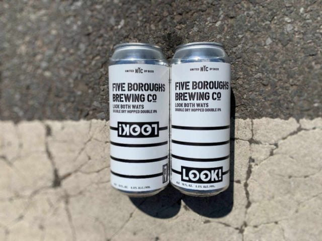 Microbrewery beer cans Five Boroughs Brewing Co. Brooklyn New York United States Ulocal Local Product Local Purchase