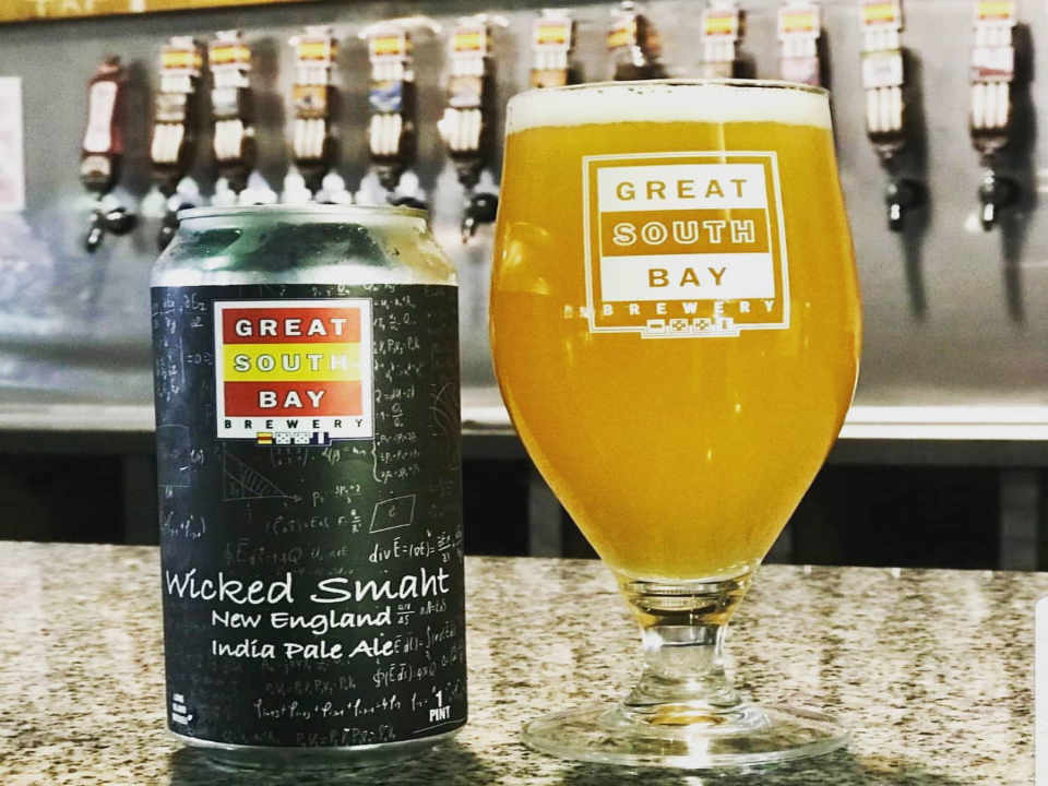 Microbrewery Glass and Beer Can Great South Bay Brewery Bay Shore New York United States Ulocal Local Product Local Purchase
