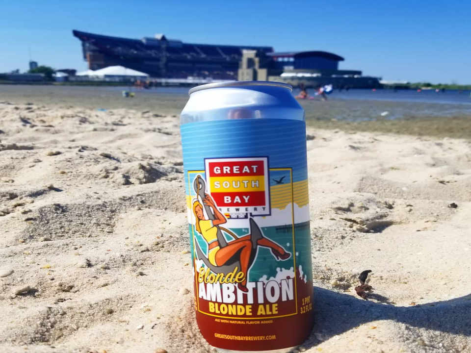 Microbrewery Beer Can Great South Bay Brewery Bay Shore New York United States Ulocal Local Product Local Purchase