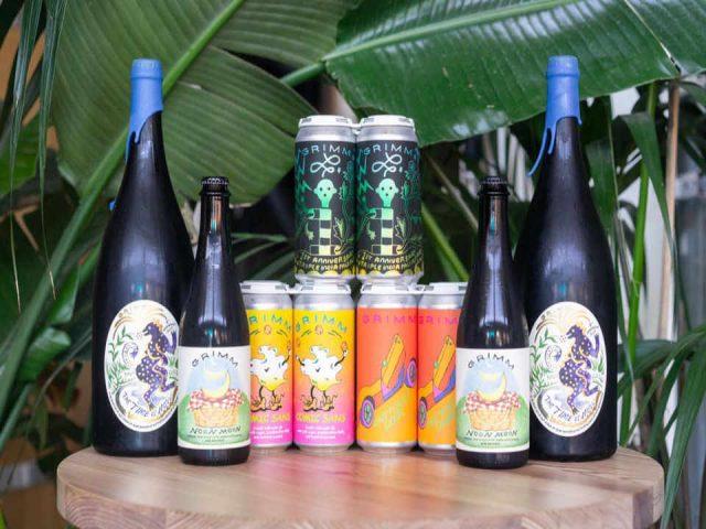 Microbrasserie bouteilles et canettes de bière Grimm Artisanal Ales Brooklyn New York États-Unis Ulocal produit local achat local
