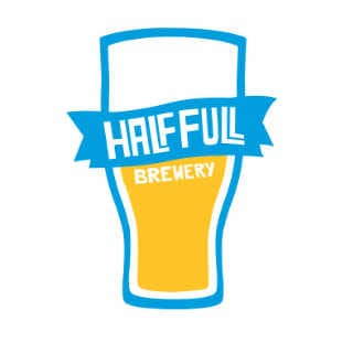 Microbrasserie logo Half Full Brewery Stamford Connecticut États-Unis Ulocal produit local achat local