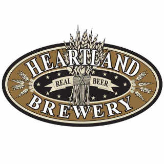 Microbrewery logo Heartland Brewery New York New York United States Ulocal Local Product Local Purchase