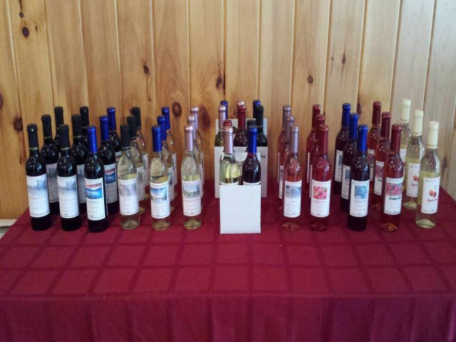 Vineyard Wine Bottles Hid-In-Pines Vineyard Morrisonville New York United States Ulocal Local Product Local Purchase