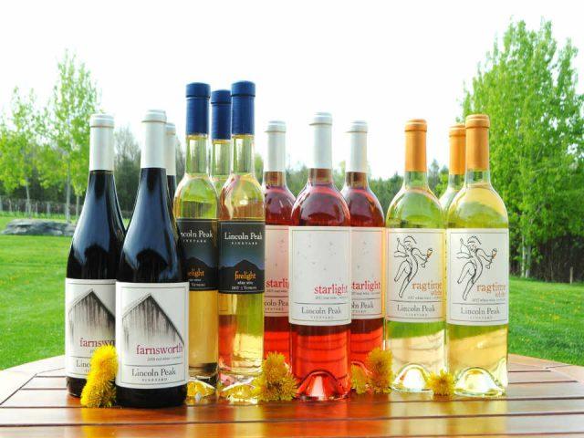 Vignoble bouteilles de vin Lincoln Peak Vineyard New Haven Vermont États-Unis Ulocal produit local achat local