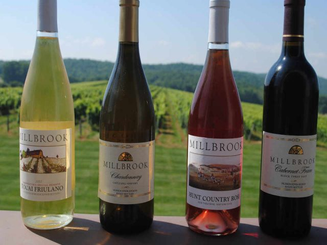 Vignoble bouteilles de vin Millbrook Vineyards & Winery Millbrook New York États-Unis Ulocal produit local achat local