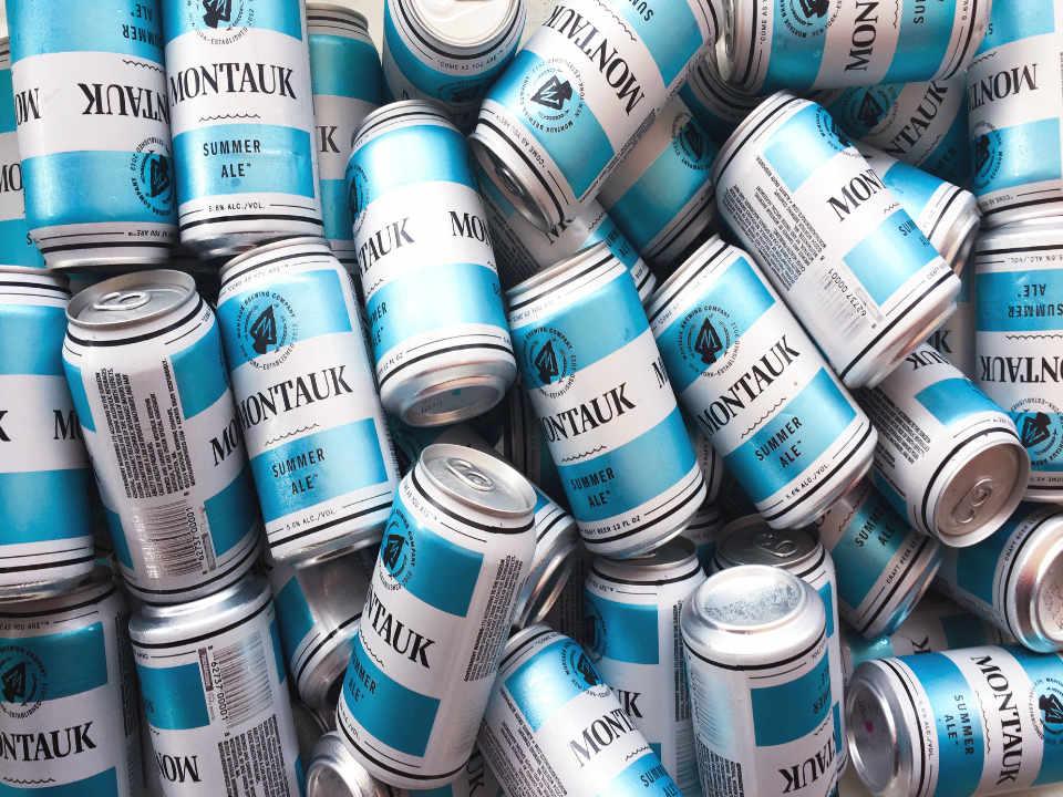 Microbrasserie canettes de bière Montauk Brewing Company Montauk New York États-Unis Ulocal produit local achat local