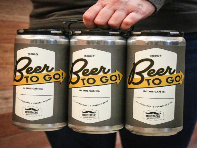Microbrasserie canettes de bière Moustache Brewing Company Riverhead New York États-Unis Ulocal produit local achat local