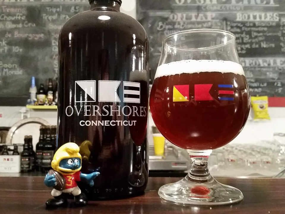 Microbrewery Glass and Beer Bottle Overshores Brewing Co. East Haven Connecticut United States Ulocal Local Product Local Purchase