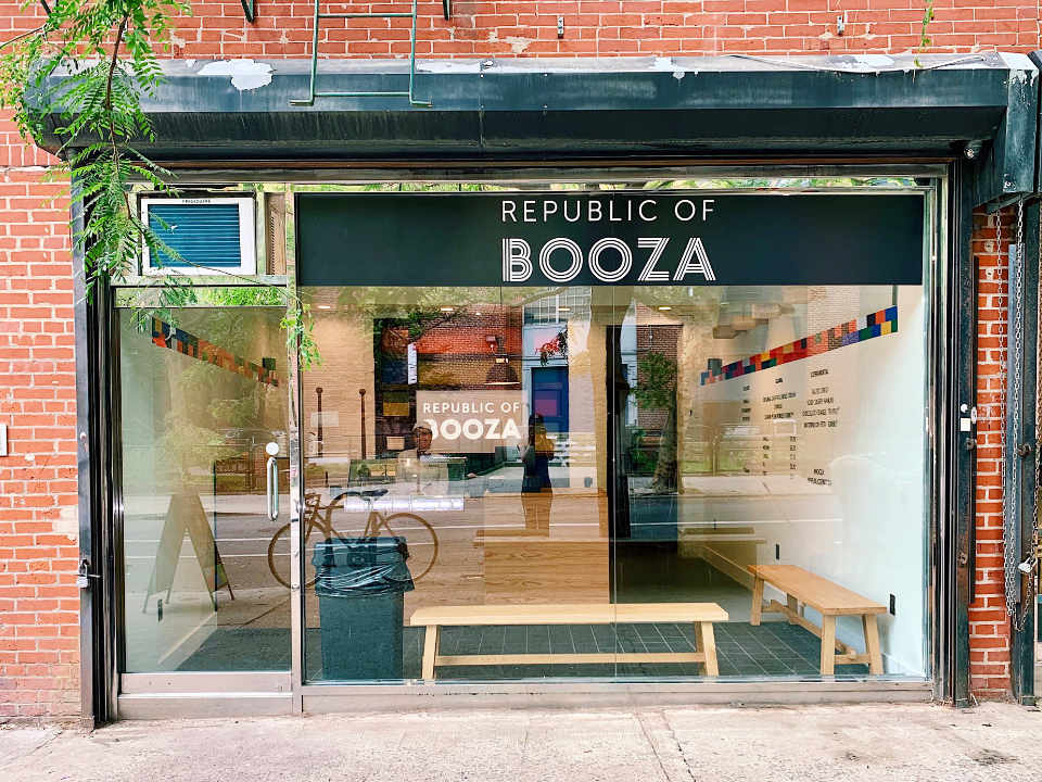 Restaurant façade Republic of Booza Brooklyn New York États-Unis Ulocal produit local achat local
