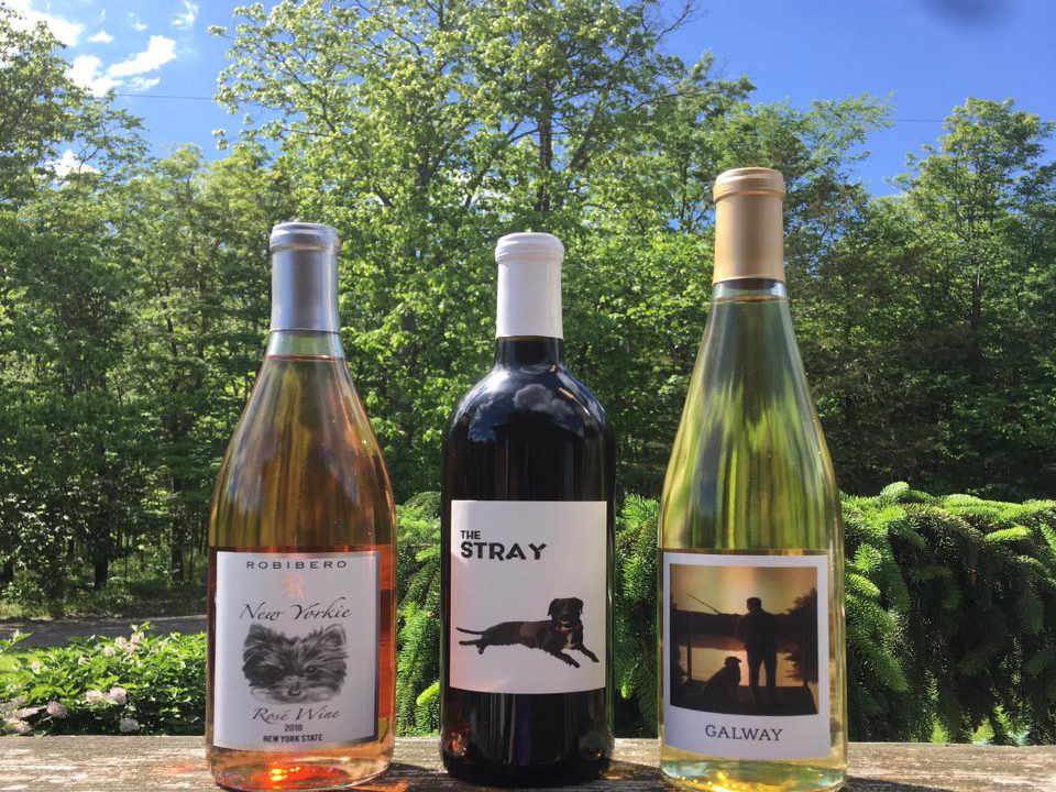 Vignoble bouteilles de vin Robibero Family Vineyards New Paltz New York États-Unis Ulocal produit local achat local