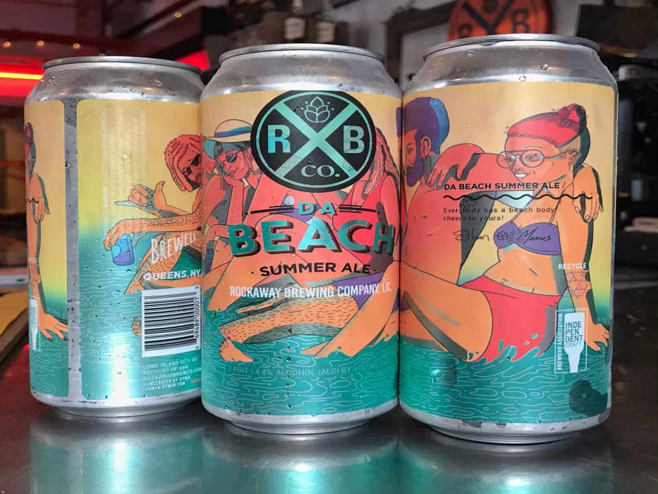 Microbrewery beer cans Rockaway Brewing Co. Long Island City New York United States Ulocal Local Product Local Purchase