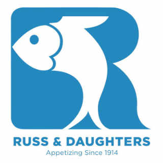 Boutique d'aliments logo Russ & Daughters New York New York États-Unis Ulocal produit local achat local
