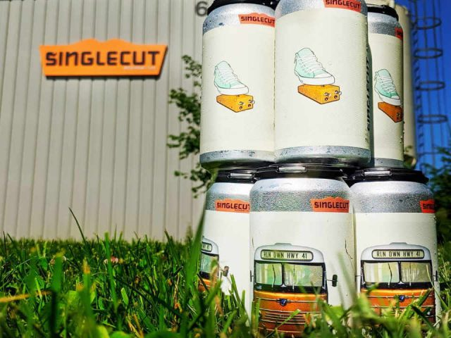 Microbrewery beer cans SingleCut Beersmiths Long Island City New York United States Ulocal Local Product Local Purchase