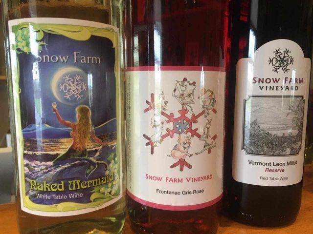 Vignoble bouteilles de vin Snow Farm Vineyard South Hero Vermont États-Unis Ulocal produit local achat local