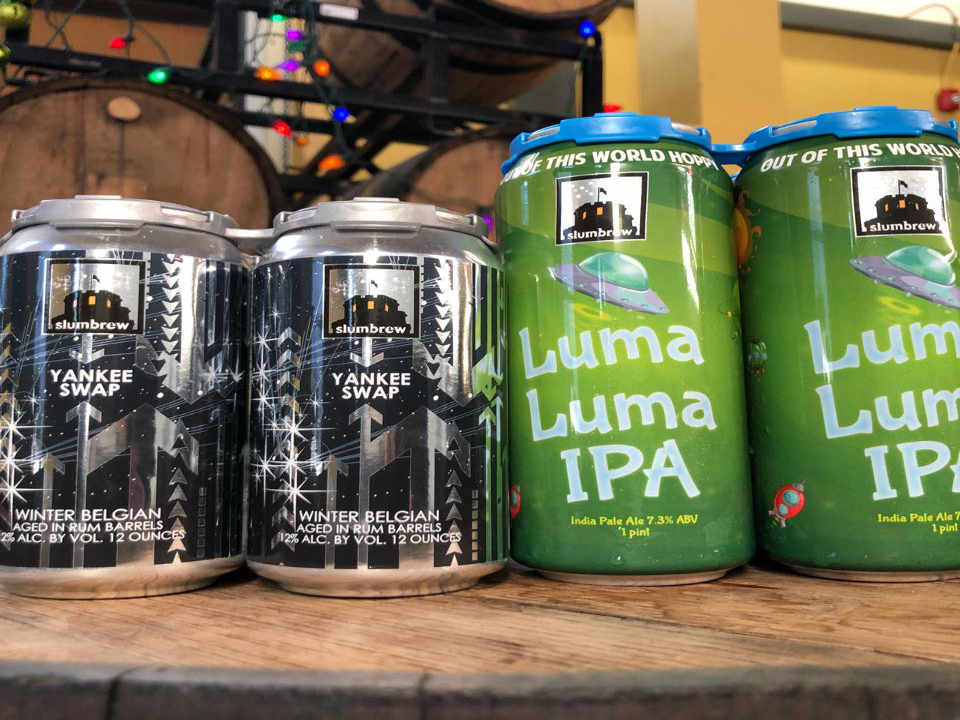 Microbrewery beer cans Somerville Brewing Somerville Massachusetts United States Ulocal local product local purchase