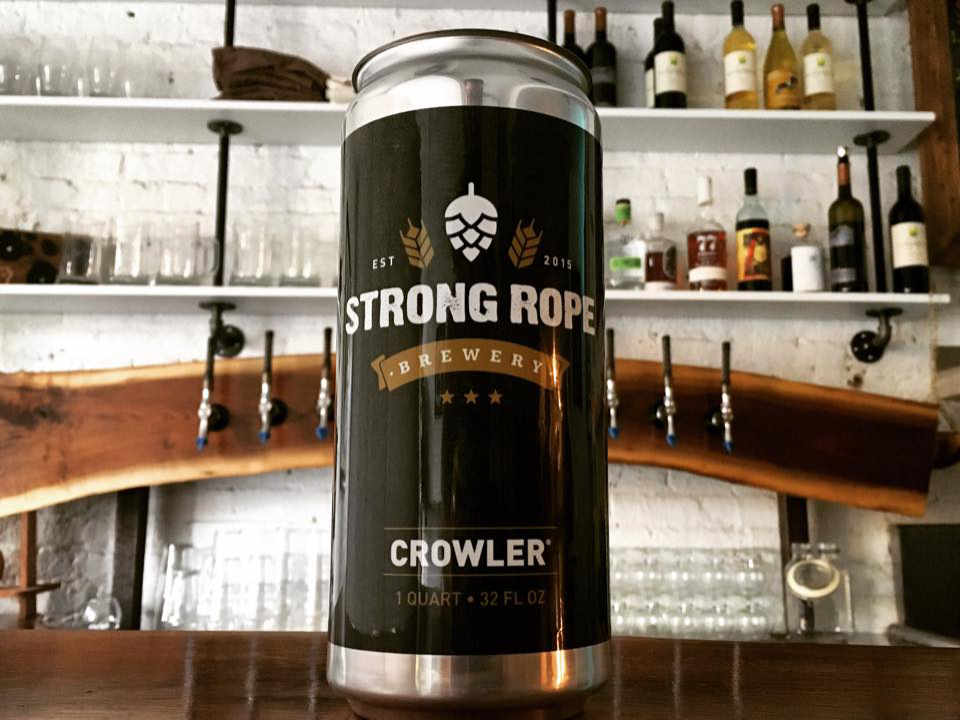 Microbrewery beer can Strong Rope Brewery Brooklyn New York United States Ulocal local product local purchase