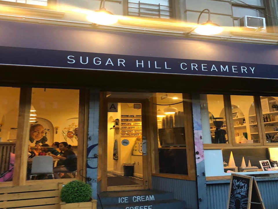 Restaurant frontage Sugar Hill Creamery New York New York United States Ulocal Local Product Local Purchase
