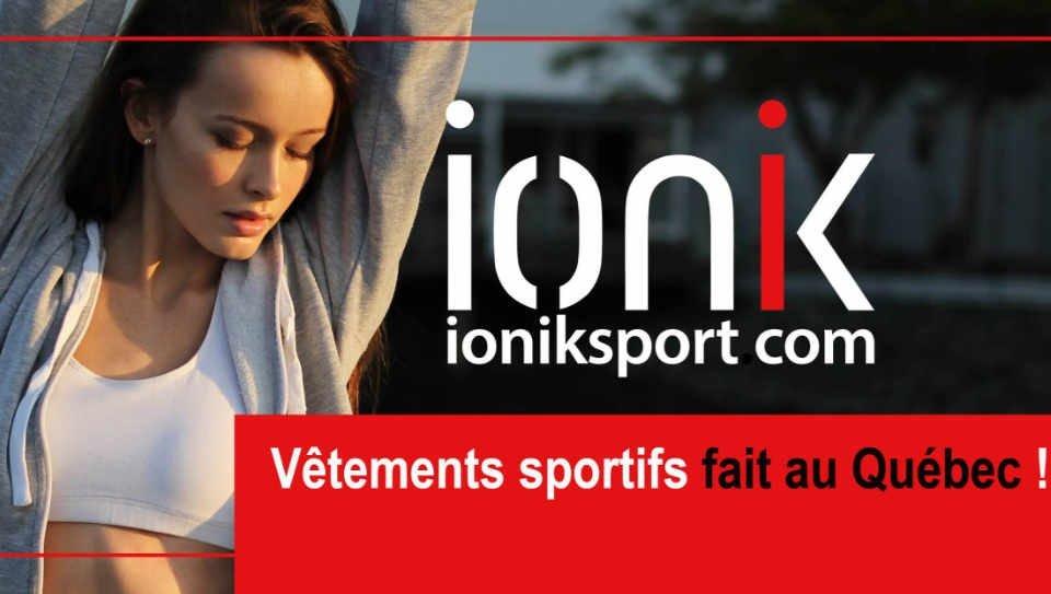 Vêtements faits au Canada IONIK Sport vêtements athlétiques Montréal Québec Ulocal produit local achat local