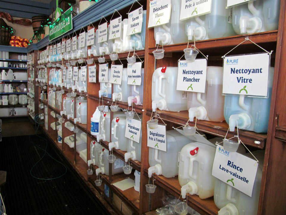 Boutique écologiques produits ménagers L'Écolo Boutique Sherbrooke Québec Ulocal produit local achat local