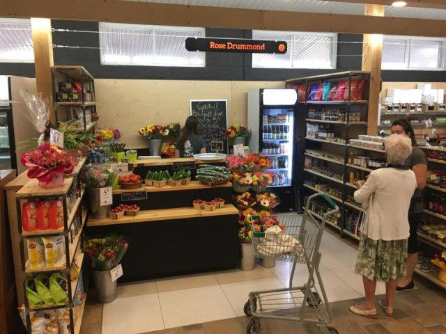 grocery stores display of products in our delicatessen rose drummond drummondville quebec canada ulocal local products local purchase local produce locavore tourist
