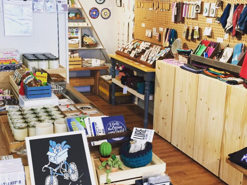 artisans boutiques interior of the shop with various items made by hand the trainyard general store dartmouth nova scotia canada ulocal local products local purchase local produce locavore tourist