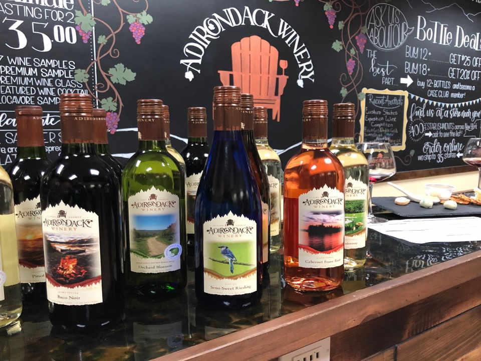 Vineyard Wine Bottles Adirondack Winery Lake George New York United States Ulocal Local Product Local Purchase