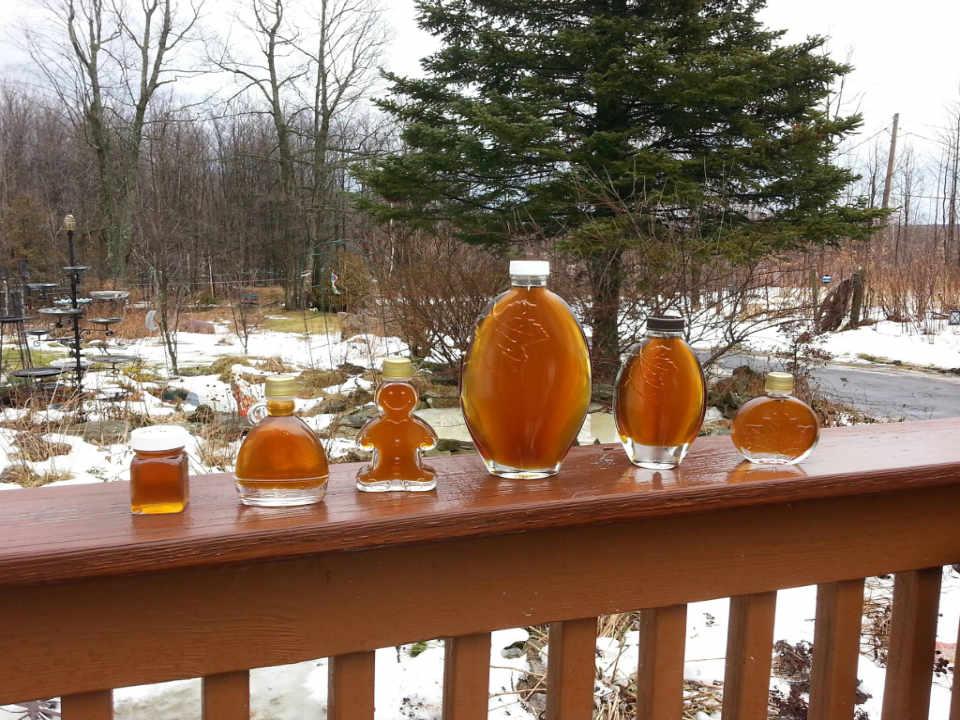 Cabane à sucre sirop d'érable Brandy Brook Maple Farm Ellenburg Center New York États-Unis Ulocal produit local achat local