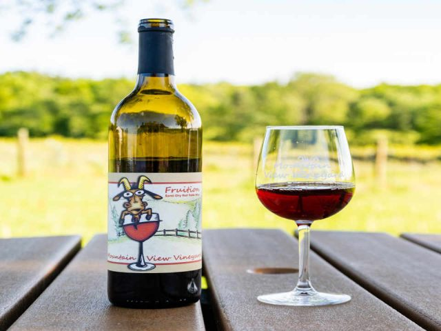 Vignoble bouteilles de vin Mountain View Vineyard, Winery, Brewery & Distillery Stroudsburg Pennsylvanie États-Unis Ulocal produit local achat local