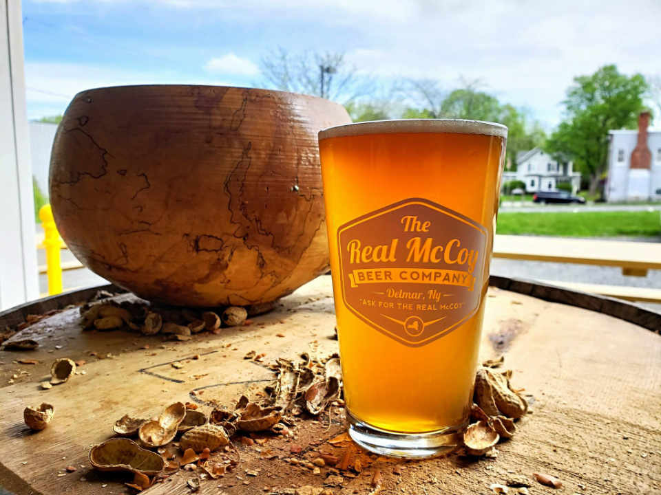 Microbrewery Beer Glass The Real McCoy Beer Co. Delmar New York United States Ulocal Local Product Local Purchase